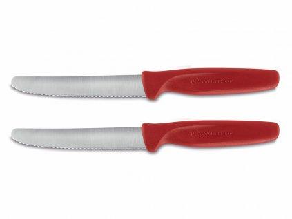 Sada nožů na zeleninu Create Wüsthof zoubkované červené 2 ks