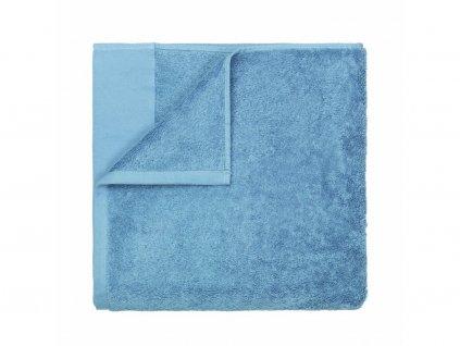 Osuška do sauny Riva Blomus pastelově modrá 100x200 cm