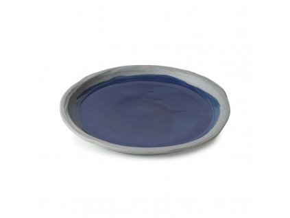 Mělký talíř No.W Revol modrý glazovaný 21 cm