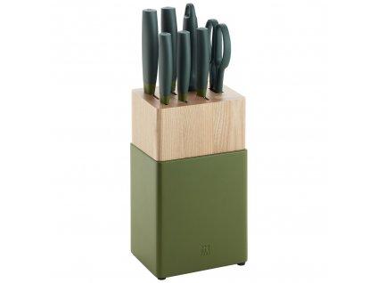 Sada nožů ve stojanu Now Zwilling olivové 7 ks