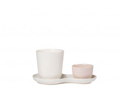 Servírovací porcelánová sada Coffee & Sweets Cream Nudge