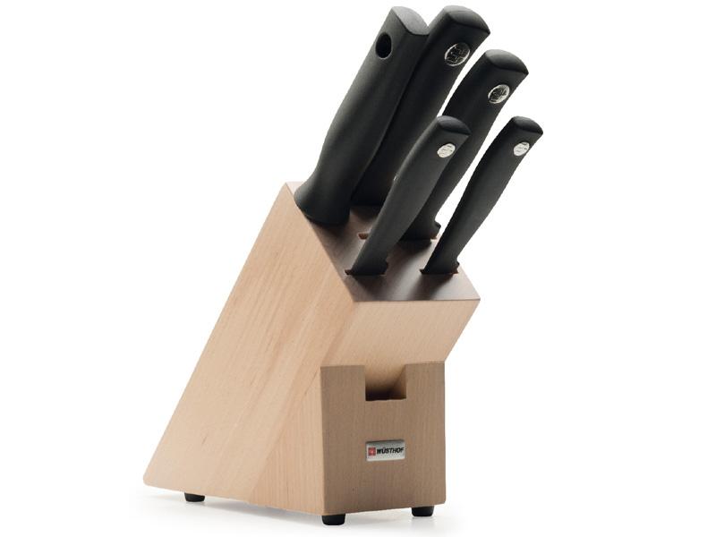 Sada nožů s blokem a ocílkou 6dílná WÜSTHOF Silverpoint