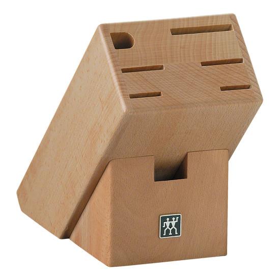 Blok na nože zkosený dřevěný na 7 kusů ZWILLING