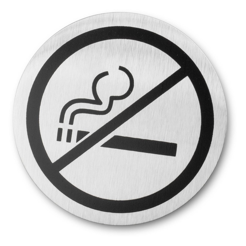 """Dveřní kulatá tabulka """"zákaz kouření"""" SIGNO Blomus"""