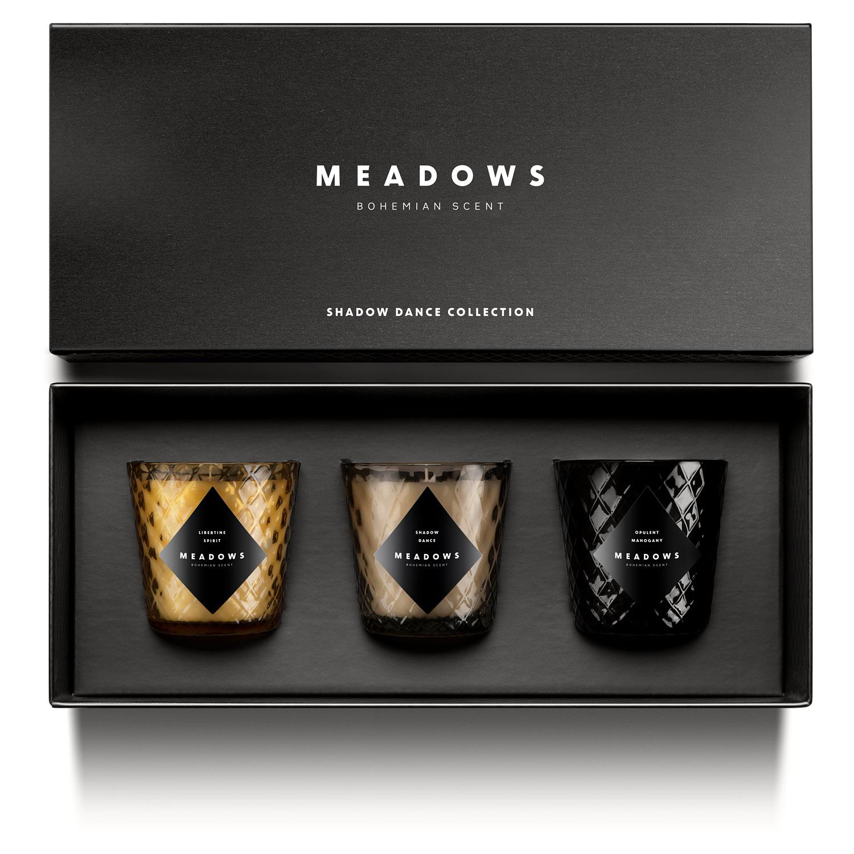 Dárková kolekce 3 vonných svíček mini Shadow Dance Meadows