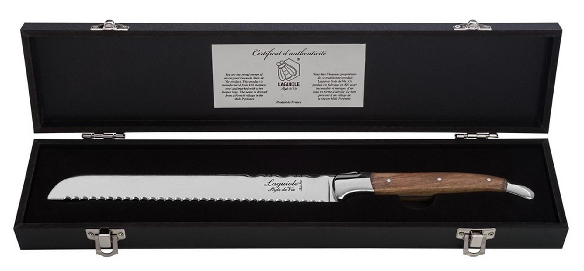 Nůž na chléb Laguiole Luxury 20 cm olive