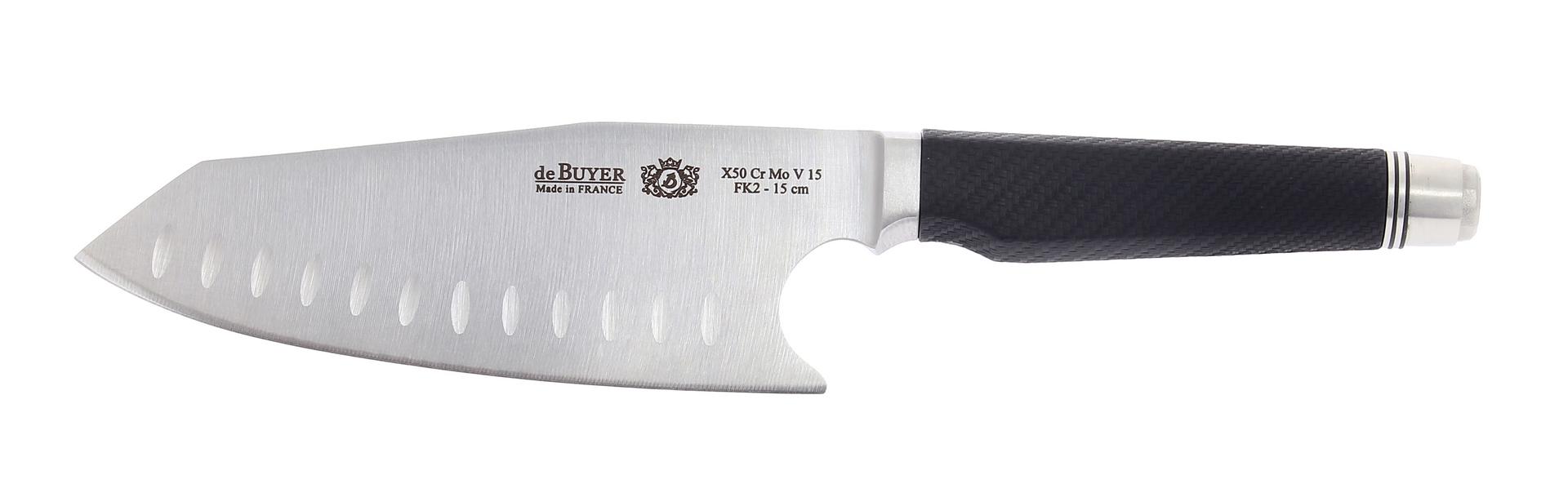 Asijský kuchařský nůž Fibre Karbon 2 De Buyer 17 cm - De buyer, Nůž asijský Chef FK2 17 cm