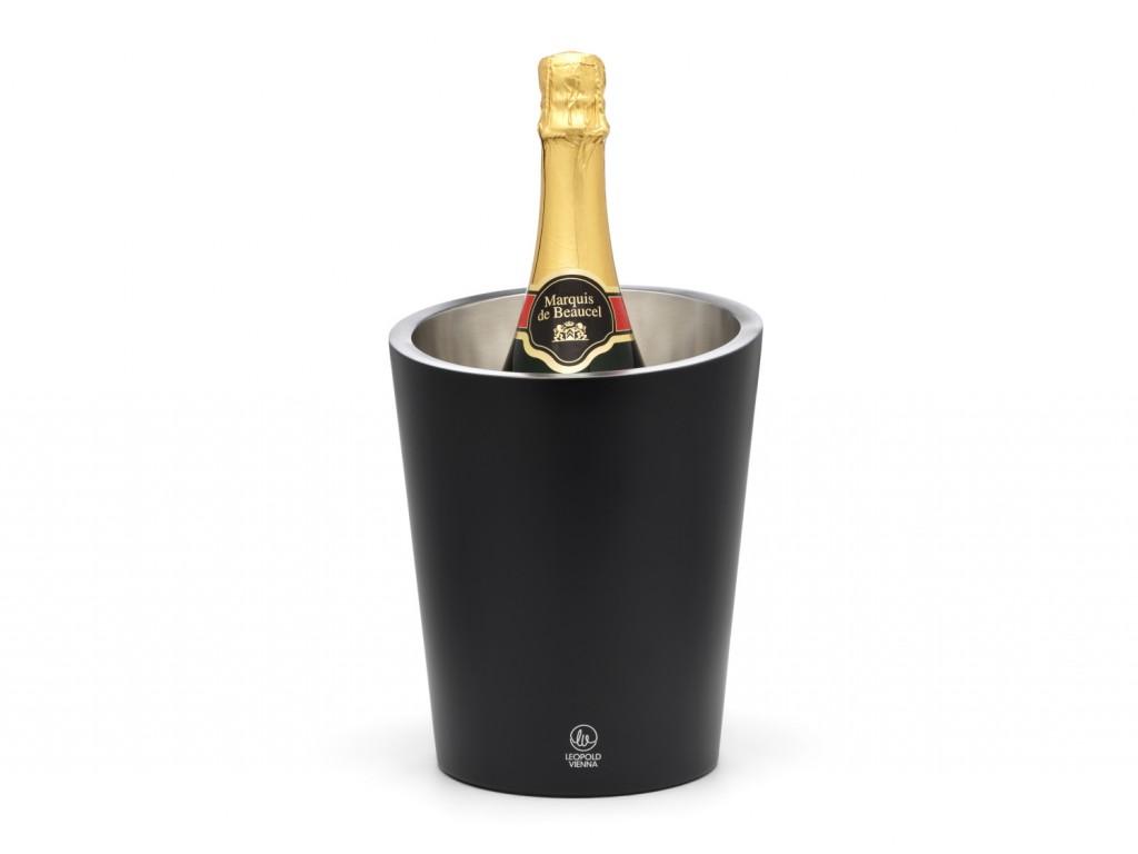 Chladič na šampaňské Leopold Vienna černý dvojstěnný