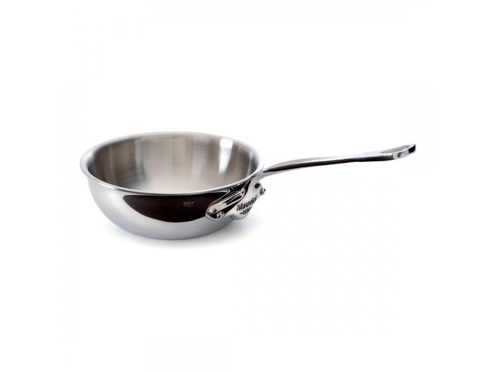 Öblös serpenyő, rozsdamentes acél nyéllel, kónikus, Ø 24 cm
