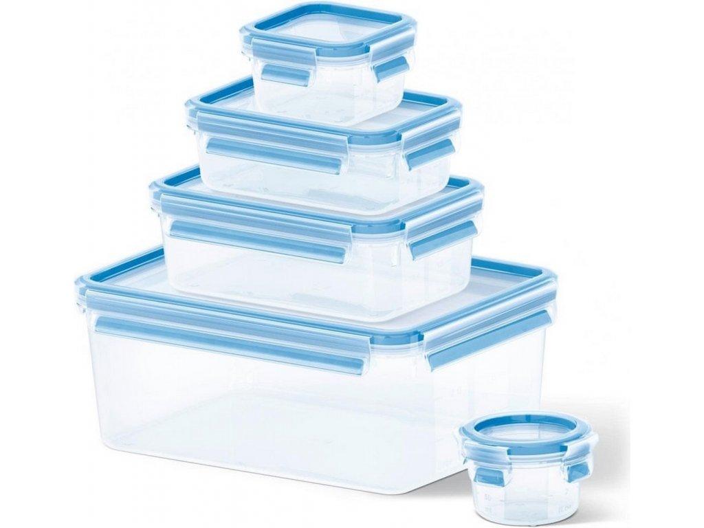 Ételtároló doboz készlet Master Seal Fresh K3029012 Tefal téglalap alakú 5 db