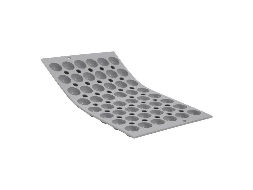 Elastomoule® professzionális szilikon sütőforma, 48 db mini félgömb (Ø 2,5 cm) sütéséhez