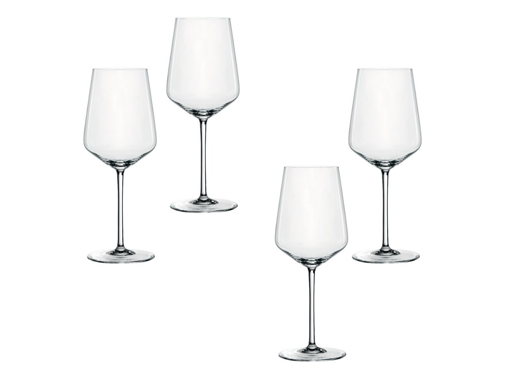 Style kristály borospohár szett, fehérborhoz, 4 db