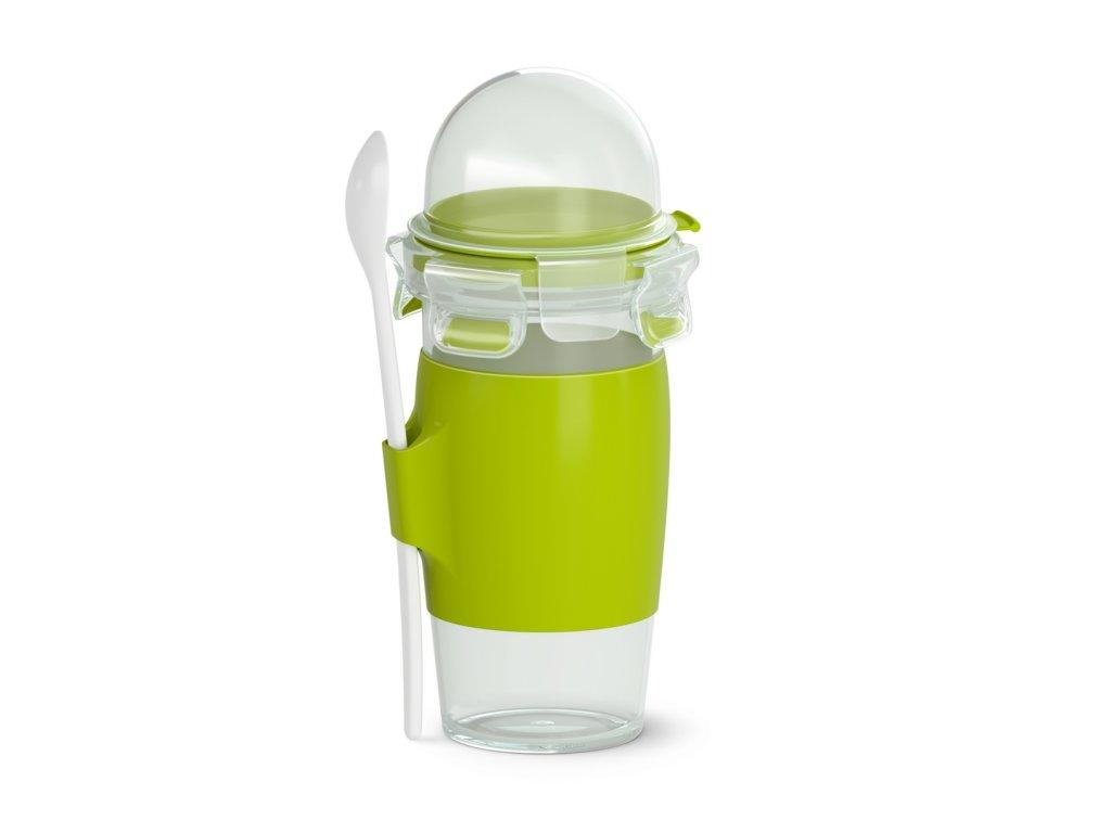 Joghurtos palack pohárral és kanállal Master Seal To Go N1071410 Tefal 450 ml
