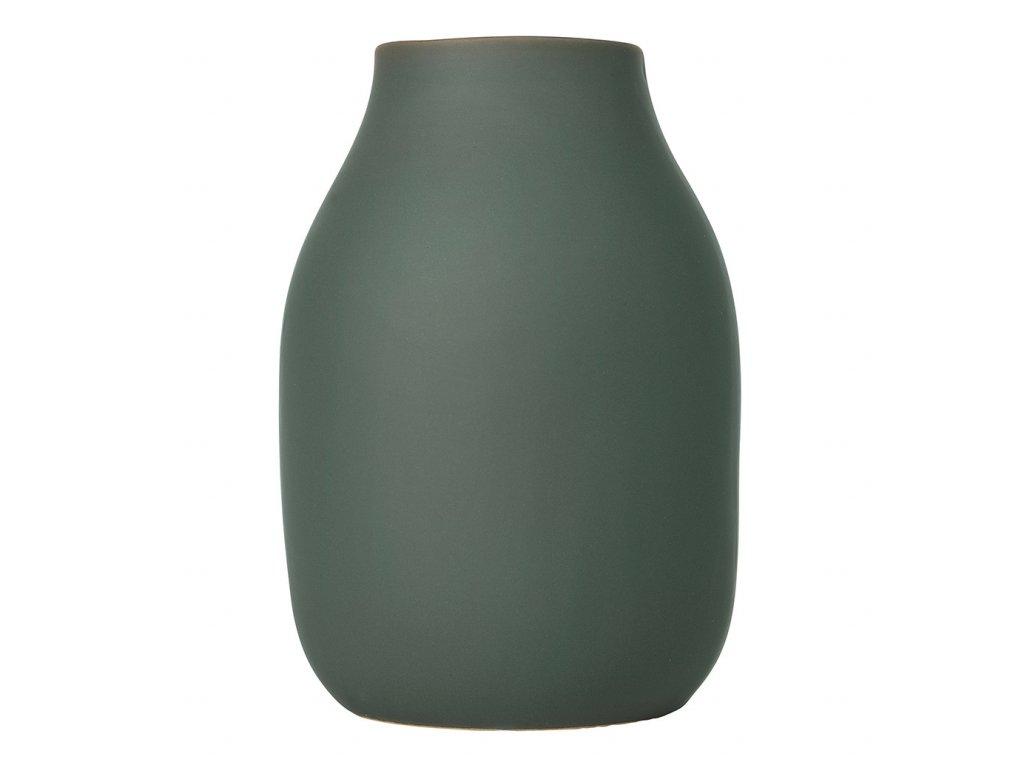 Váza COLORA khaki Ø 14 cm
