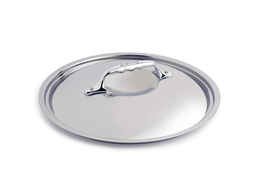 Fedő, rozsdamentes acél, Ø 18 cm