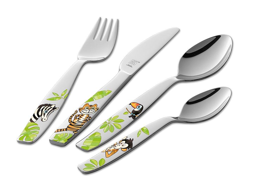 """""""Jungle"""" gyerekevőeszköz készlet, 4 részes"""