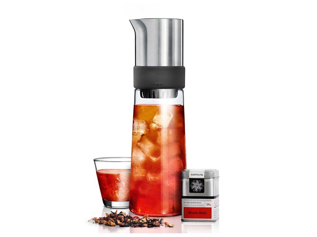 TEA-JAY® karaffa jegestea készítéséhez, 0,8 liter, darabos teával