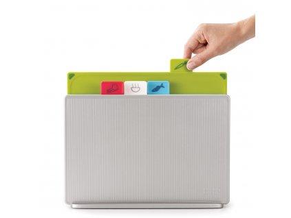 Index™ Regular vágódeszka készlet állvánnyal, 30 x 20 cm, ezüst