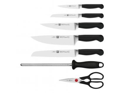 ZWILLING® Pure késkészlet fenőacéllal, ollóval és késtartó blokkal, 8 darabhoz