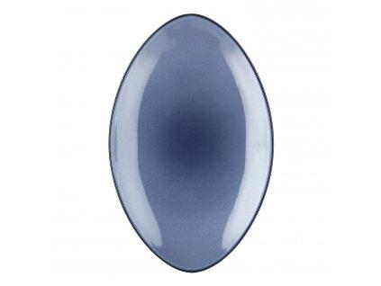 Equinoxe tányér / tálca, ovális, 35 x 22,3 cm, viharkék, Revol