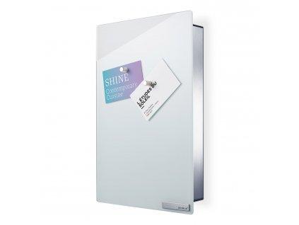 VELIO kulcstartó szekrény mágneses ajtóval, 30 x 20 cm, fehér