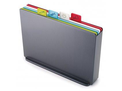 Index™ Large vágódeszka készlet, állvánnyal, 34 x 24 cm, grafitszürke