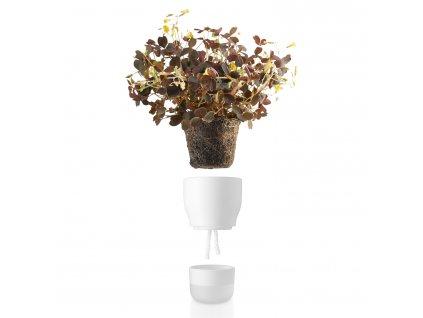 Önöntöző virágcserép, krétafehér, Ø 9 cm