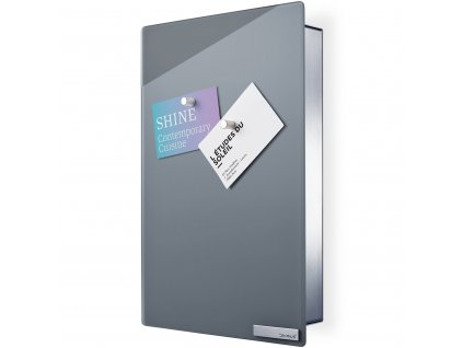 VELIO kulcstartó szekrény mágneses ajtóval, 30 x 20 cm, szürke