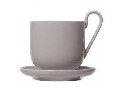 Kávés csésze szett csészealjjal RO szürke