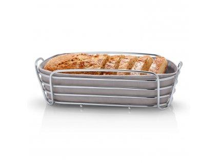 DELARA kenyérkosár, ovális, szürkésbarna
