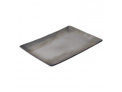 Arborescence tányér / tálca, feketebors színű, 32 x 22 cm