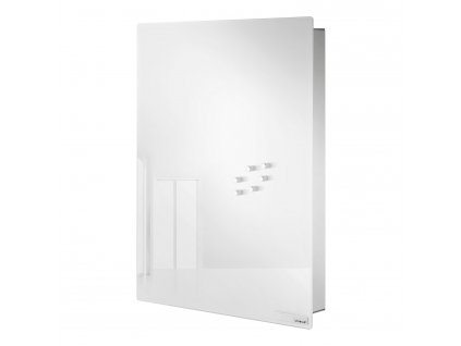 VELIO kulcstartó szekrény mágneses ajtóval, 40 x 30 cm, fehér