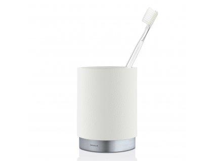 ARA fogkefetartó pohár, matt rozsdamentes acél, fehér