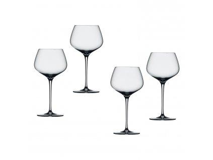 Willsberger Anniversary kristály borospohár szett, vörösborhoz, Burgundy, 4 db