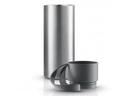 To Go thermo bögre, szürke pánttal, 0,35 liter, rozsdamentes acél, Eva Solo