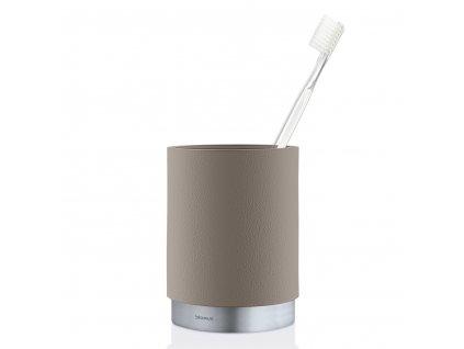 ARA fogkefetartó pohár, matt rozsdamentes acél, szürkésbarna