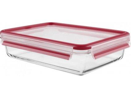 Üveg ételtároló doboz Master Seal Glass K3010512 Tefal téglalap alakú 2 l