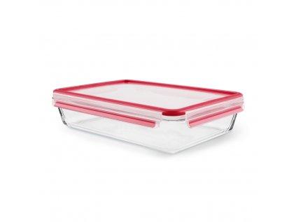 Üveg ételtároló doboz Master Seal Glass K3010612 Tefal téglalap alakú 3 l