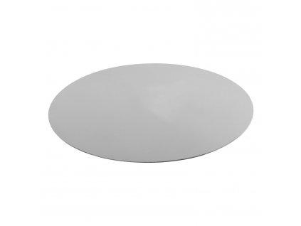 Kétoldalas rozsdamentes acél tányér/alátét, Ø 40 cm