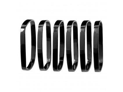 FINO 6 db-os szalvétagyűrű, fekete