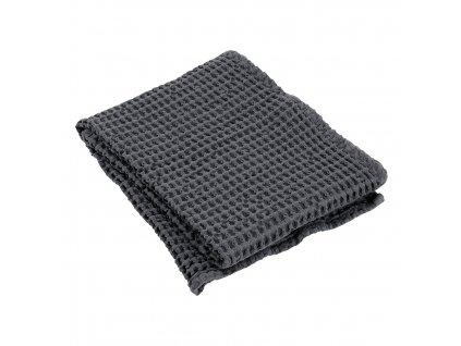 Gofri mintájú törölköző CARO sötétszürke 50 x 100 cm
