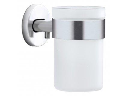 AREO fogkefetartó pohár, falra szerelhető, matt rozsdamentes acél