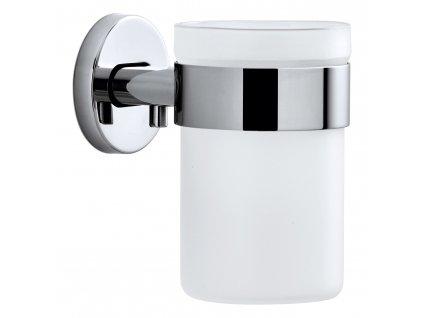 AREO fogkefetartó pohár, falra szerelhető, fényes rozsdamentes acél