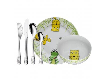 """""""Szafari"""" gyerekevőeszköz készlet, 6 részes"""