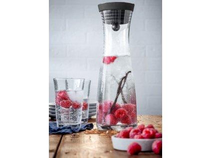 Kancsó szett fekete Basic 1,0 l + 2 üvegpohár