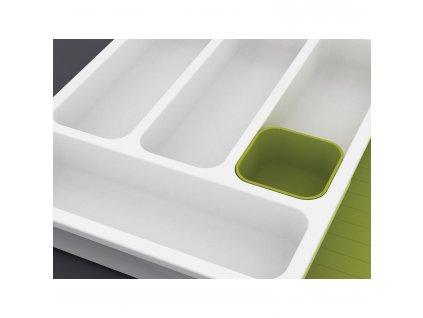 DrawerStore™ evőeszköztartó igazítható rekeszekkel, fehér