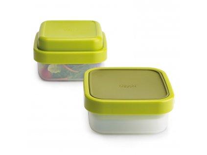 GoEat™ ételhordó doboz, 400 / 700 ml, zöld