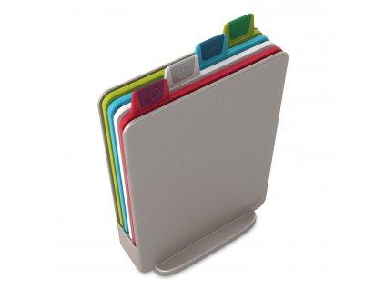 Index™ Mini vágódeszka készlet, állvánnyal, 20,5 x 15 cm, ezüstszürke, Joseph Joseph