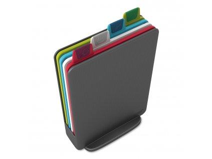 Index™ Mini vágódeszka készlet, állvánnyal, 20,5 x 15 cm, grafitszürke, Joseph Joseph