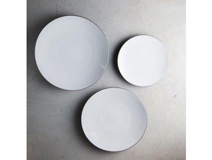 White Cumulus Equinoxe lapostányér, Ø 24 cm, fehér
